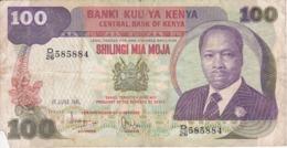 BILLETE DE KENIA DE 100 SHILINGI DEL AÑO 1981 (BANK NOTE) - Kenia