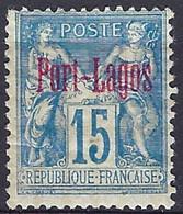 Colonie Française, Port Lagos, N°3 * - Port Lagos (1893-1931)