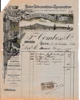 """1894 - CETTE & AGDE - IMPRIMERIE COMMERCIALE DU MIDI - Frédéric COMBES & Cie - Imprimeur Du """"LE CETTOIS"""" - Documents Historiques"""