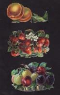 Découpis   Lot De 6    Fruits       12 X 7.6 Cm Le Plus Grand - Découpis