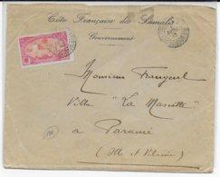COTE DES SOMALIS - 1913 - ENVELOPPE Du GOUVERNEMENT De DJIBOUTI  => PARAME - Côte Française Des Somalis (1894-1967)