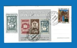 (Riz1) Italia - 1965 - 7° Centenario Nascita Dante Alighieri- Convegno Commerciale.MILANO 31/10-2/11 1965 . - Cinderellas