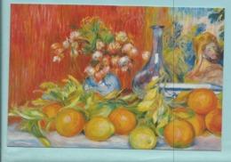 CPM  Pierre Auguste Renoir Nature Morte Fleurs Oranges Et Citrons 1888 - Helen Gallery Paris Rue Du Faubourg St Honoré - Peintures & Tableaux
