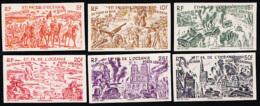 French Polynesia (1946) Chad To Rhine. Set Of 6 Imperforates.  Scott Nos C11-16, Yvert Nos PA20-25. - Oceanië (1892-1958)