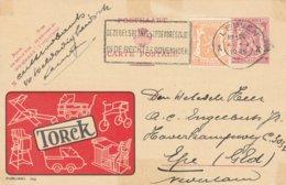 België 1949, Publibel 750, Met Bijfrankering Voor Verzending Naar Buitenland, Torck, Kindermeubelen - Stamped Stationery