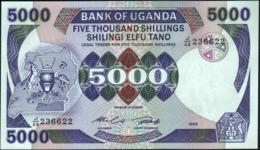 UGANDA - 5.000 Shillings 1986 UNC P.24 B - Uganda