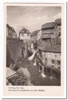 Saarburg Bez. Trier, Wasserfall Des Leukbaches Mit Alten Mühlen - Saarburg