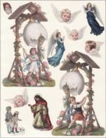 Découpis   Lot De 11    Anges, Oeufs, Religion       15.5 X 10 Cm Le Plus Grand - Découpis