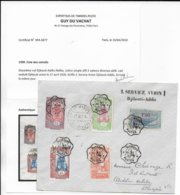 COTE DES SOMALIS - 1930 - ENVELOPPE 2° VOL DJIBOUTI ADDIS-ABEBA De DJIBOUTI  => ETHIOPIE - CERTIFICAT PHOTO - Lettres & Documents