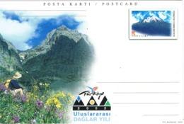 33896. Entero Postal TURQUIA 2002. Año Internacional De Las Montañas. Montañismo - 1921-... República