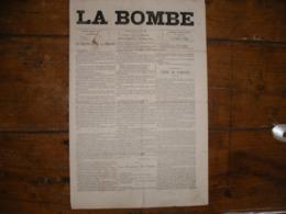 - JOURNAL, LA BOMBE Du 23 Juin 1889, 2 Pages, - Periódicos