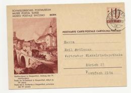 """Schweiz Suisse 1939: Bild-PK """"PM Gotthardpost In Hospenthal St.Gothard S.Gottardo O OBERUZWIL 20.VIII.48 Nach Zürich - Interi Postali"""