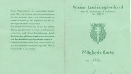 JAGDKARTE Vom Wiener Landesjagdverband Mit 2 Eingeklebten Zahl-Belege - Historische Dokumente