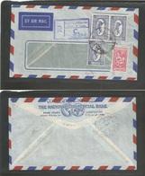 SAUDI ARABIA. 1959. Jeddah - Egypt, Cairo (14 Dec) Comercial Registered Air Multifkd Env. VF. - Saudi Arabia