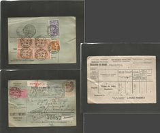 FRANCE - XX. 1922 (19 Febr) Mulhouse, Haut Rhin - Norway, Kristiania (10 May) Registered Multifkd Front And Reverse Pack - Non Classés