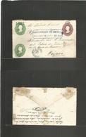 MEXICO - Stationery. 1882 (2 Dec) DF - Orizava (10 Dic) Triple Print Hidalgo Stationery Envelope. Mexico Name, 5482 Cons - Mexique