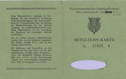 JAGDKARTE Aus Leinen, Vom Niederösterreichischen Landesjagdverband Mit 2 Eingeklebten Zahl-Belege - Historische Dokumente