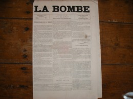 - JOURNAL, LA BOMBE Du 2 Juin 1889, 2 Pages, - Periódicos