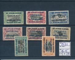 RUANDA URUNDI 1918 ISSUE COB 28/35 TYPE B LH - 1916-22: Neufs