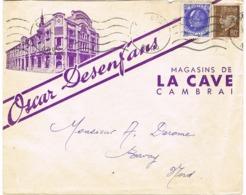 ENVELOPPE  A EN-TETE ILLUSTREE OSCAR DESENFANS MAGASIN DE LA CAVE CAMBRAI - 1921-1960: Modern Tijdperk