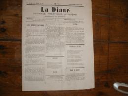 - JOURNAL, LA DIANE Du 3 Août 1890, 2 Pages, - Periódicos