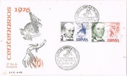 33901. Carta Exposicion BARCELONA 1976, PAU CASALS, Centenarios - 1931-Hoy: 2ª República - ... Juan Carlos I