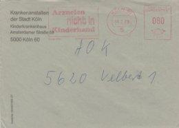 West Duitsland 1988, Frankeermachinestempel 'medicijnen Niet In Kinderhanden' - Medizin