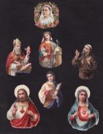 Découpis   Lot De 7    Religion       8.2 X 6.2 Cm Le Plus Grand - Découpis