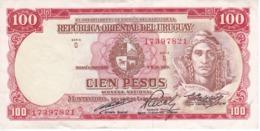 BILLETE DE URUGUAY DE 100 PESOS DEL AÑO 1939 EN CALIDAD EBC (XF) (BANKNOTE) - Uruguay