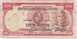 BILLETE DE URUGUAY DE 100 PESOS DEL AÑO 1939  (BANKNOTE) - Uruguay
