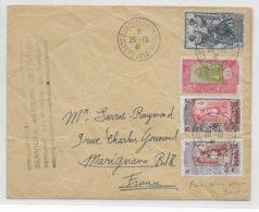 COTE DES SOMALIS - 1941 - ENVELOPPE SERVICES AERIENS SPECIAUX PENDANT LE BLOC De DJIBOUTI => MARIGNANE - Lettres & Documents