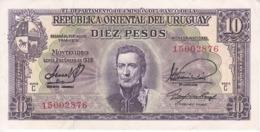 BILLETE DE URUGUAY DE 10 PESOS DEL AÑO 1939 EN CALIDAD EBC (XF)  (BANKNOTE) - Uruguay