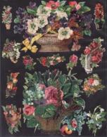 Découpis   Lot De 13    Fleurs       12 X 11.7 Cm Le Plus Grand - Découpis