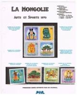 Poste MONGOLIA 1970 - Série Arts Et Sports - 8 Timbres Oblitérés Offert Par PIF Gadget - Mongolië