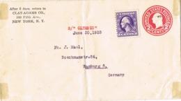 33905. Carta Entero Postal NEW YORK (Usa) 1923. Ship  RMS OLYMPIC, Barco - 1921-40
