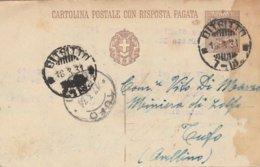 Bitritto. 1931. Annullo Frazionario (7 - 18), Su Cartolina Postale Completa Di Testo - Storia Postale