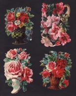 Découpis   Lot De 10    Fleurs       12 X 7.5 Cm Le Plus Grand - Découpis