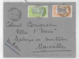 COTE DES SOMALIS - 1921 - ENVELOPPE De DJIBOUTI => MARSEILLE - Lettres & Documents
