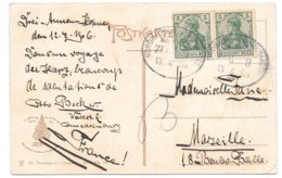 Bahnpost Nordhausen - Wernigerode, Zug 3, Karte (Bodetal-Bodekessel), 1906 - Briefe U. Dokumente