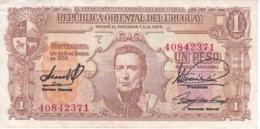 BILLETE DE URUGUAY DE 1 PESO DEL AÑO 1939 EN CALIDAD MBC (VF)  (BANKNOTE) - Uruguay