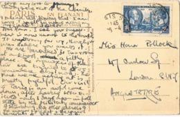 33907. Postal PARIS 1939 To London. Military Contenu - Francia