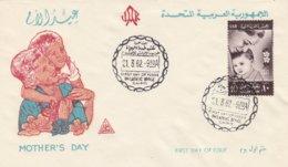 UAR 1962, FDC Moederdag - Childhood & Youth