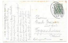 Bahnpost Mainz-Aschaffenburg, Zug 651, Karte (Burg Windeck U. Die WSC Wachenburg), 1915 - Briefe U. Dokumente