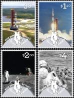 NIUE 2019 - Moonlanding, Astronautes, Satellites - 4 Val Neufs // Mnh - Niue