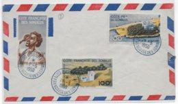 COTE DES SOMALIS - 1950 - SERIE POSTE AERIENNE YVERT N° 20/22 Sur ENVELOPPE De DJIBOUTI - Côte Française Des Somalis (1894-1967)