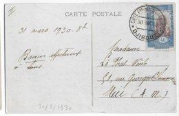 COTE DES SOMALIS - 1930 - CARTE (RESTAURANT) De DJIBOUTI => NICE - Côte Française Des Somalis (1894-1967)