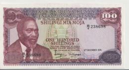 KENYA P. 14a 100 S 1974 UNC - Kenia
