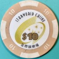 HK$10 Casino Chip. Star World, Macau. Q04. - Casino