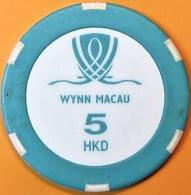 HK$5 Casino Chip. Wynn, Macau. Q04. - Casino