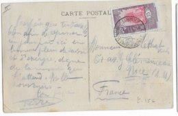 COTE DES SOMALIS - 1925 - CARTE (COUCHER DE SOLEIL) De DJIBOUTI => NICE - Côte Française Des Somalis (1894-1967)